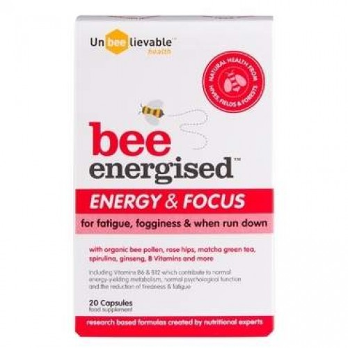 "UNBEELIEVABLE HEALTH ""BEE ENERGISED"" (ENERGY & FOCUS) 20CAPS"