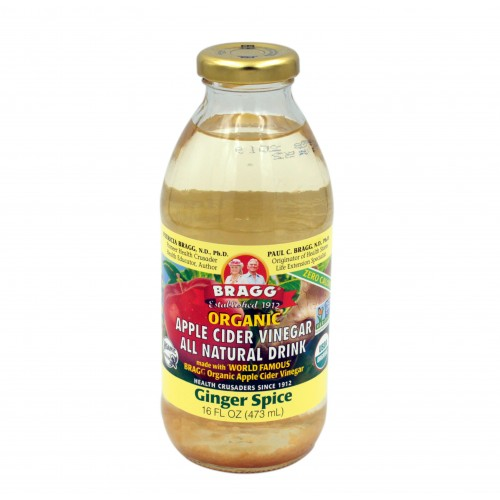 BRAGG ORGANIC APPLE CIDER VINEGAR GINGER  DRINK - 16OZ (473ml)