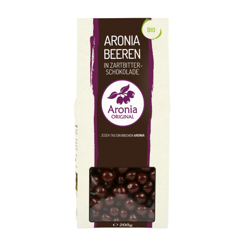 ARONIA ORIGINAL ORGANIC ARONIA BERRIES COVERED IN DARK CHOC 200G