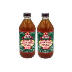 BRAGG ORGANIC APPLE CIDER VINEGAR AND HONEY BLEND DOUBLE PACK (2 X 473ML)