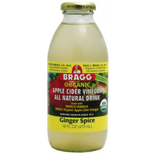 BRAGG ORGANIC APPLE CIDER VINGER DRINK - GINGER SPICE (CASE OF 12)