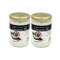 COPURA EXTRA VIRGIN ORGANIC COCONUT OIL DOUBLE PACK (2X 500ML)