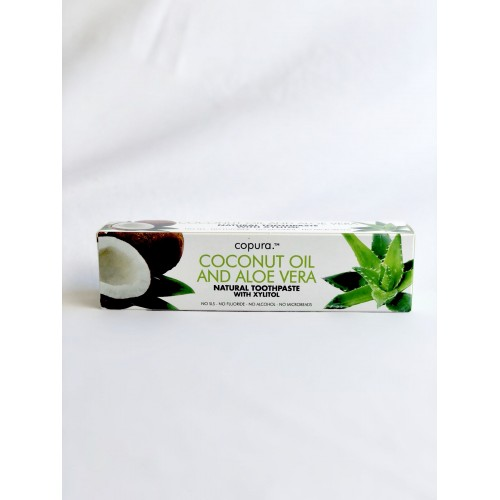 COPURA COCONUT OIL AND ALOE VERA NATURAL TOOTHPASTE WITH XYLITOL - 100ML