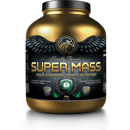 GOLD TECH NUTRITION SUPER MASS VANILLA 4KG