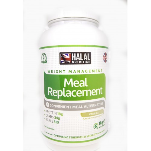 Halal Nutrition - Meal Replacement (Vanilla) - 1kg