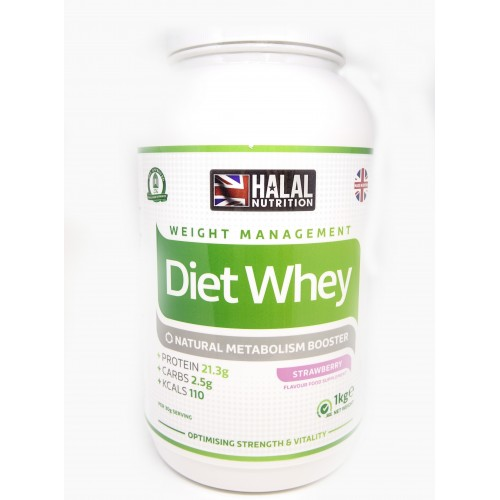 Halal Nutrition - Diet Whey Protein Powder (Strawberry) - 1kg