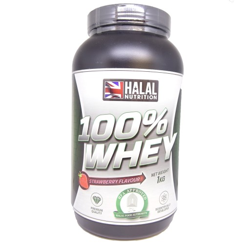 Halal Nutrition - 100% Whey Protein (Strawberry) - 1kg