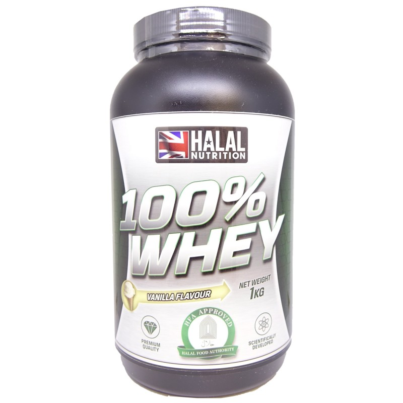 0bfd435bbf Halal Vanilla Flavour Whey Protein 1kg | Omninatural