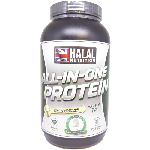 Halal Nutrition - All-in-One Protein (Vanilla) - 1kg