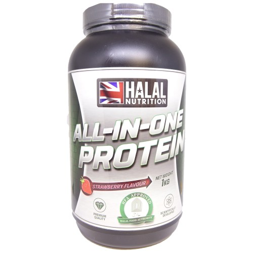 Halal Nutrition - All-in-One Protein (Strawberry) - 1kg