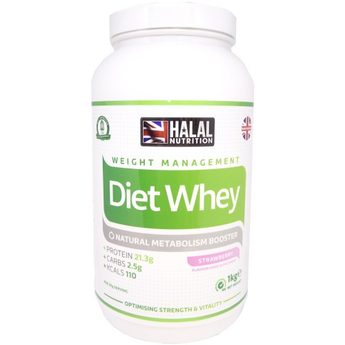 Halal Nutrition - Diet Whey Protein Powder (Strawberry) - 1kg - CLEARANCE