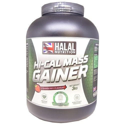 Halal Nutrition - Hi-Calorie Mass Gainer (Strawberry) - 3kg