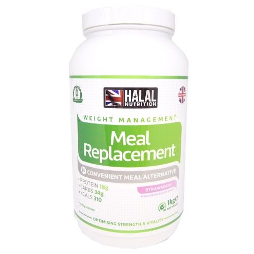 Halal Nutrition - Meal Replacement (Strawberry) - 1kg - CLEARANCE