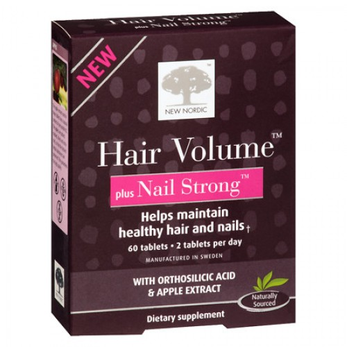 NEW NORDIC HAIR VOLUME PLUS NAIL STRONG 60 TABLETS