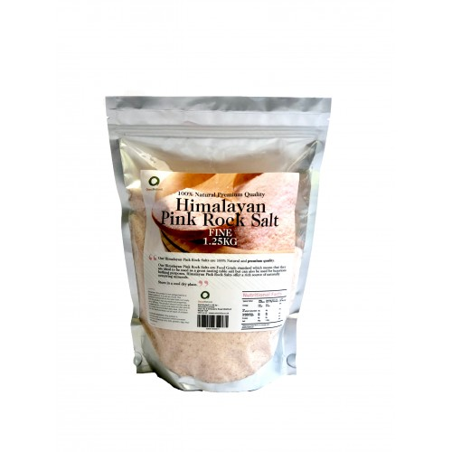 OMNINATURAL COARSE HIMALAYAN PINK ROCK SALT - 1.25KG
