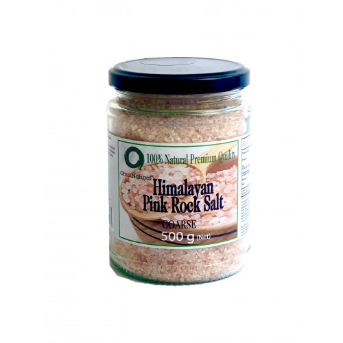 OMNINATURAL COARSE HIMALAYAN PINK ROCK SALT - 500G