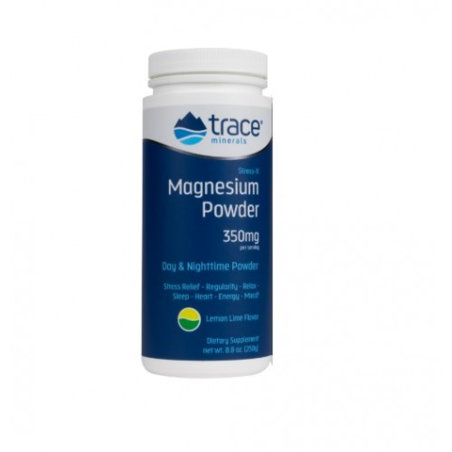 Trace Minerals Stress-X Magnesium Lemon Lime 350mg 250g