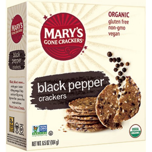 Mary's Gone Crackers, Organic Crispy Crackers, Black Pepper, 6.5 oz (184 g)